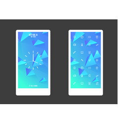 abstract colored background with triangles and vector image