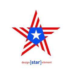 Abstract design element star with Puerto Rico flag vector