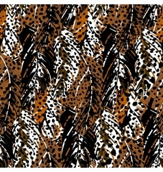 abstract pattern inspired tropical birds vector image
