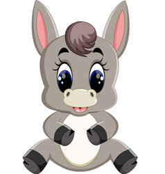 adorable donkey isolated on white background vector image
