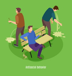Alcoholism isometric background poster vector