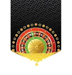 Background with roulette and coins vector image