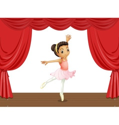 Ballerina on stage vector