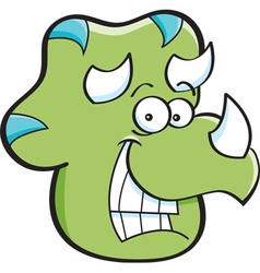 Cartoon triceratops head vector
