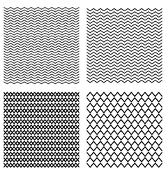 Collection seamless monochrome geometric vector image