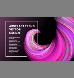 color paint wave twist abstract background vector image