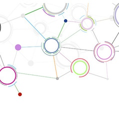 Creative communicational network background vector