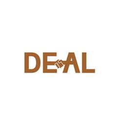 creative deal handshake typography letter logo vector image