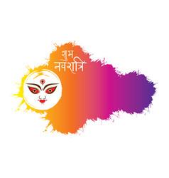 creative happy navratri festival banner design vector image