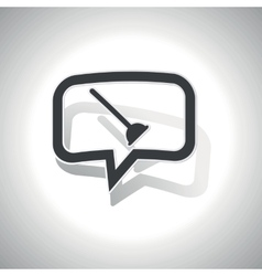 Curved plunger message icon vector