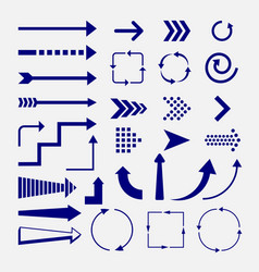 directions and arrows signs vector image
