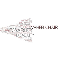 Disabled word cloud concept vector