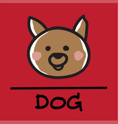 Dog hand-drawn style vector