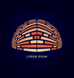 Dome abstract construction vector