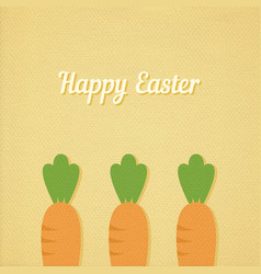 Easter carrots vector