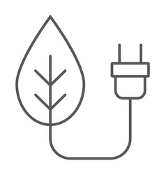 eco power thin line icon ecology and energy vector image