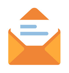 Email flat vector