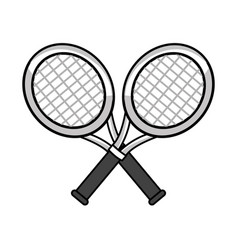 Figure rackets to play tennis icon vector