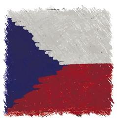 Flag of Czech handmade square shape vector image
