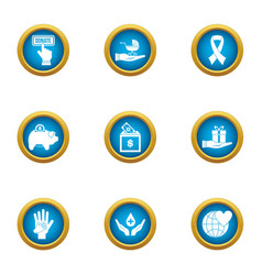 frugal icons set flat style vector image