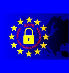 gdpr european union vector image