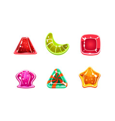 glossy candies set multicolored sweets of vector image