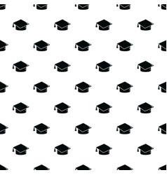 graduation cap pattern seamless vector image