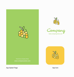 grapes company logo app icon and splash page vector image