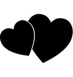 heart icon simple love logo vector image