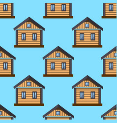 home sweet home house seamless pattern with window vector image