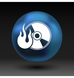 Icon computer disk recording abstract art audio vector