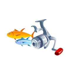 Icon fishing vector