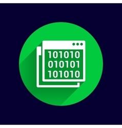 Icon of code window program programming website vector