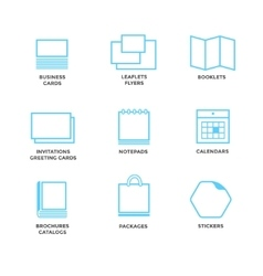 Icons of various print media vector