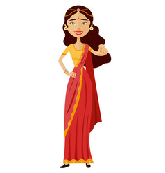 indian business woman motivation flat cartoon vector image