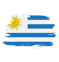 isolated uruguayan flag vector image