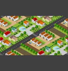 Isometrics village seamless vector
