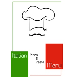 Italian restaurant menu design vector image