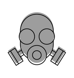 Laboratory mask isolated icon vector