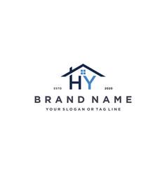 Letter hy home logo design vector