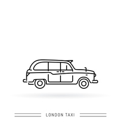 London taxi black cab vector