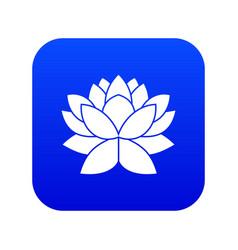 lotus flower icon digital blue vector image