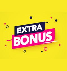 Modern extra bonus label vector