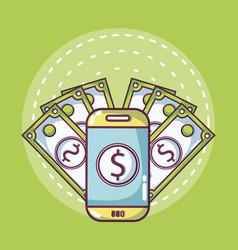 money online concept vector image