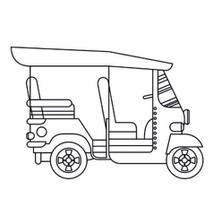 Mototaxi isolated icon design vector