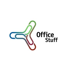Office chancellery logo vector image