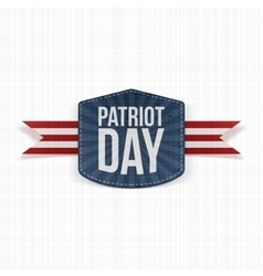 Patriot Day realistic Label with Ribbon vector image