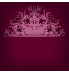pattern with lace ornament vector image vector image