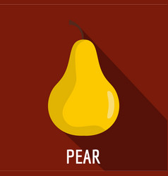 Pear icon flat style vector