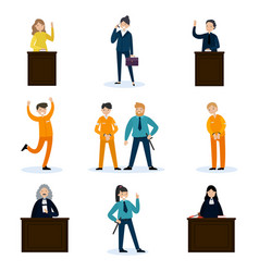 People in court set vector